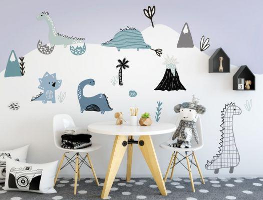 https www i love wandtattoo de kinder wandsticker sets dinosaurier kinderzimmer set in pastell baby room decor nursery wall decals kids wanddeko modern metall rustikale wanddekoration