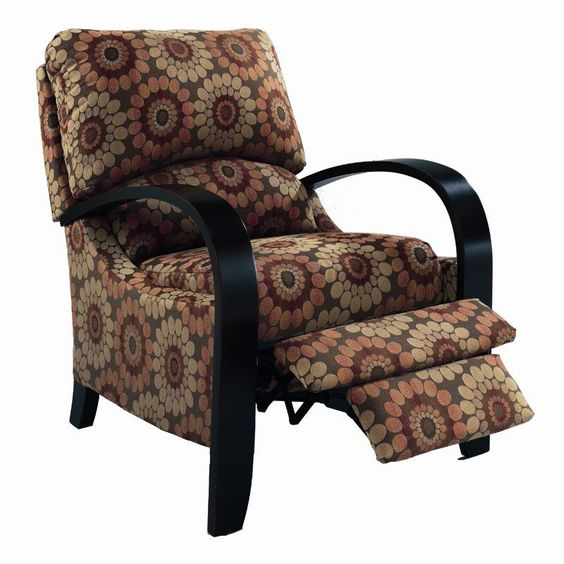 Hi Leg Recliners Contemporary Julia Hileg Recliner With Bentwood Arms By Lane Royal Furniture