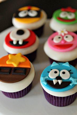 Yo Gabba Gabba Party // Yo Gabba Gabba Cupcakes