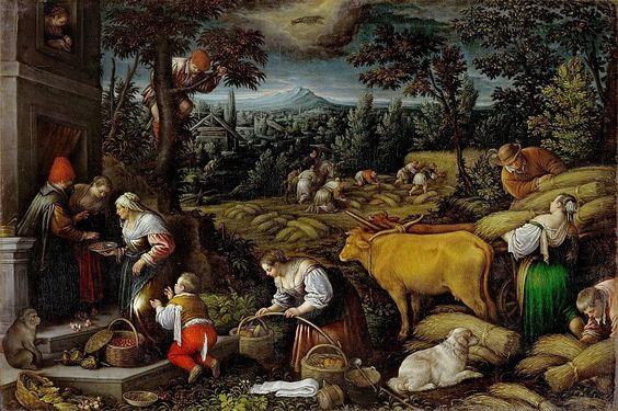 Leandro Bassano - June. Series of The 12 Months. Kunsthistorisches Museum, Wien. .
