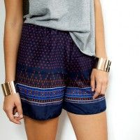 DIY shorts from a silk scarf, including making the pattern