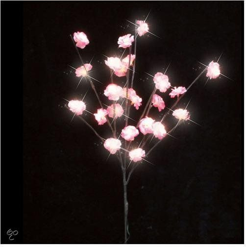 Luca Lighting - Boom met bloemen en LED fiber verlichting - Werkt op batterijen