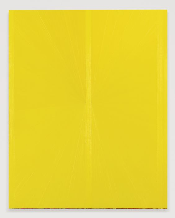 """Mark Grotjahn - Untitled (Yellow Butterfly II 782) - 2008 - 48x38"""" - $2,105,000 - Sothebys. Hard to capture beautiful texture and feeling of depth in a photo, prices for MG works seem to be rising rapidly."""