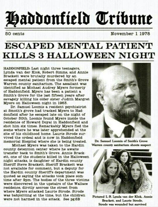 Halloween, 1978.  Haddonfield, Illinois.