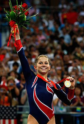 2008 Olympic gold medalalist on beam.....you are retiring in style Shawn..you had a great career!
