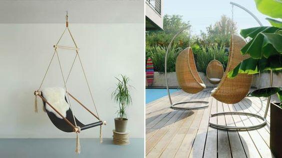 Moderne sedie da giardino sospese