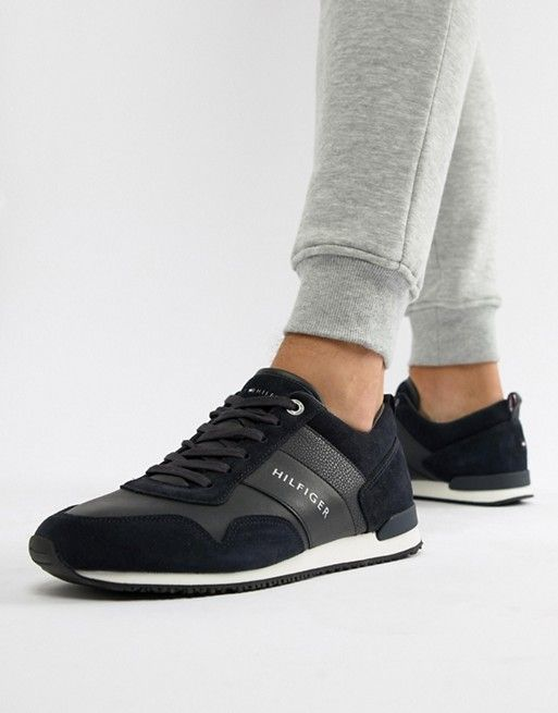 Tommy Hilfiger suede mix sneaker in
