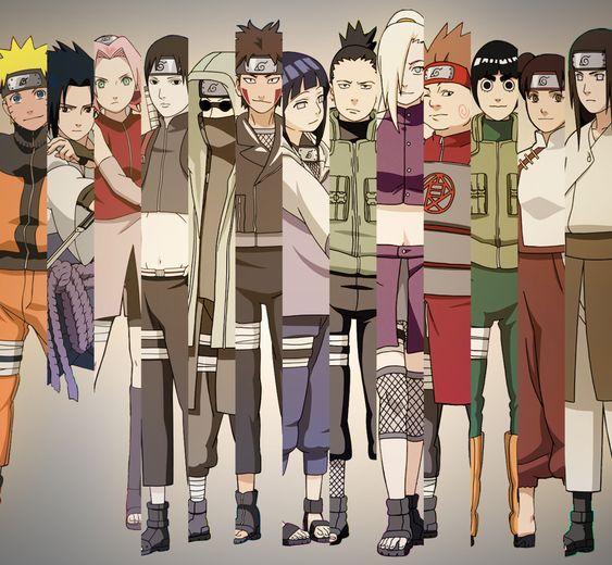 Naruto Sakura Sasuke Shikamaru Ino Choji Kiba: Naruo, Sasuke, Sakura, Sai, Shino, Kiba, Hinata, Shikamaru