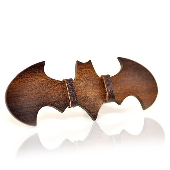 Wooden bow-ties. Wood bowtie for men. Super-heroes collection. Batman