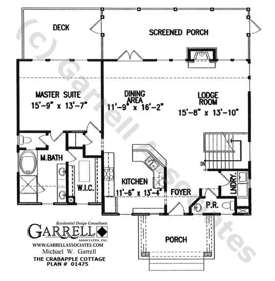 Crabapple Cottage House Plan 01475 1st Floor Plan
