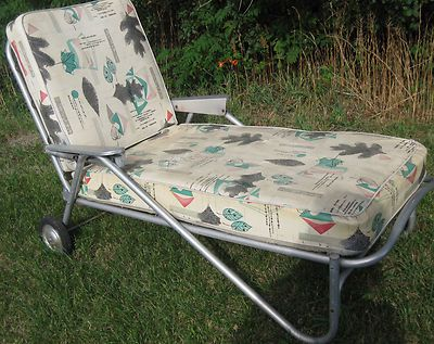 Vintage aluminum 1950 chaise lounge i have a similar one for 1950 chaise lounge