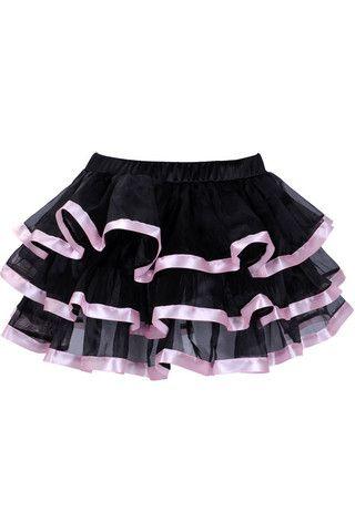 Pink Tiered Chiffon Skirt