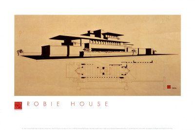 ^ - obie House - Frank Lloyd Wright FLW Pinterest Frank Lloyd ...