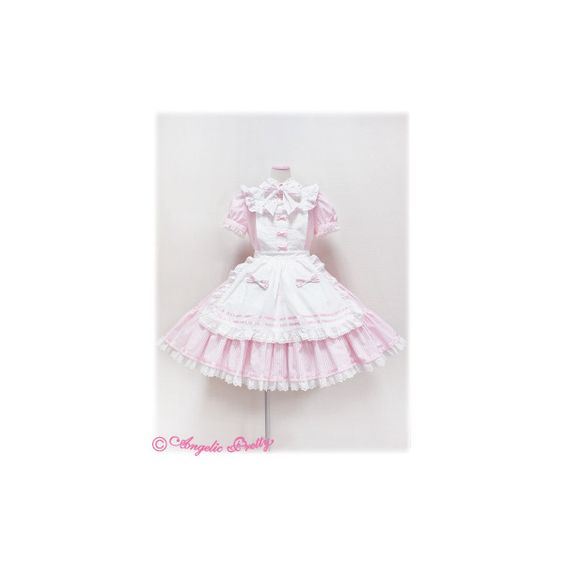 Angelic Pretty Tea Party OP ❤ liked on Polyvore featuring dresses, lolita, angelic pretty, tea dress, white dress, white tea-length dresses, white day dress and tea party dresses