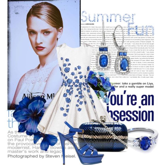 Untitled #296 by lucyy66 on Polyvore featuring moda, Yves Saint Laurent, Alexander McQueen, Blue Nile and Giambattista Valli