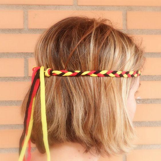 Team-Stirnband deutsche Flagge Oktoberfest Haar von TomatoJewelry