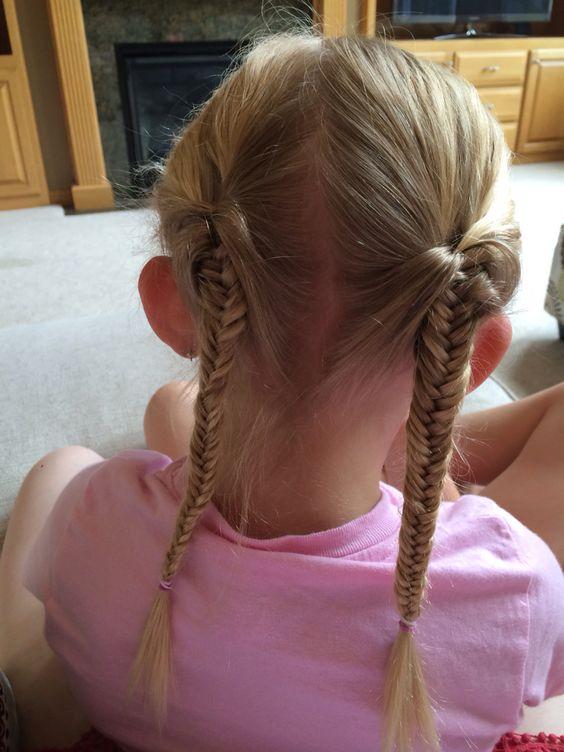 Enjoyable Fishtail Pigtail Braids For Little Girls Hair For Little Girls Short Hairstyles For Black Women Fulllsitofus