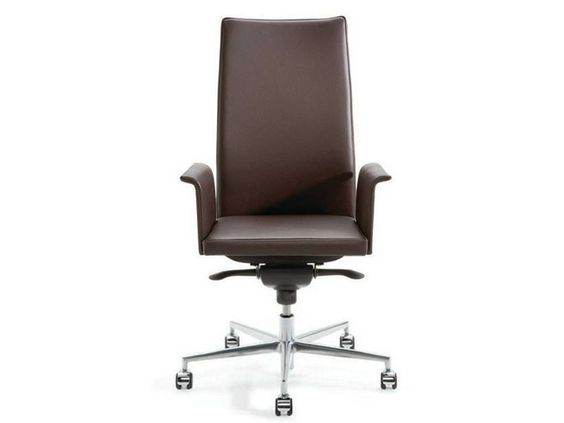 Swivel executive chair with armrests with casters .PER_SE .Per_se Collection by Spiegels