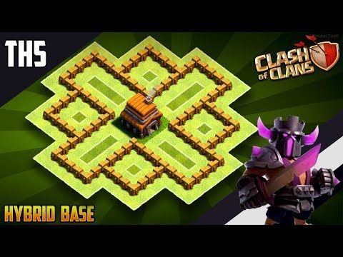 New Best Th5 Hybrid Trophy Defense Base 2019 Town Hall 5 Hybrid Base Design Clash Of Clans Youtube Clash Of Clans Clash Of Clans Hack Clan