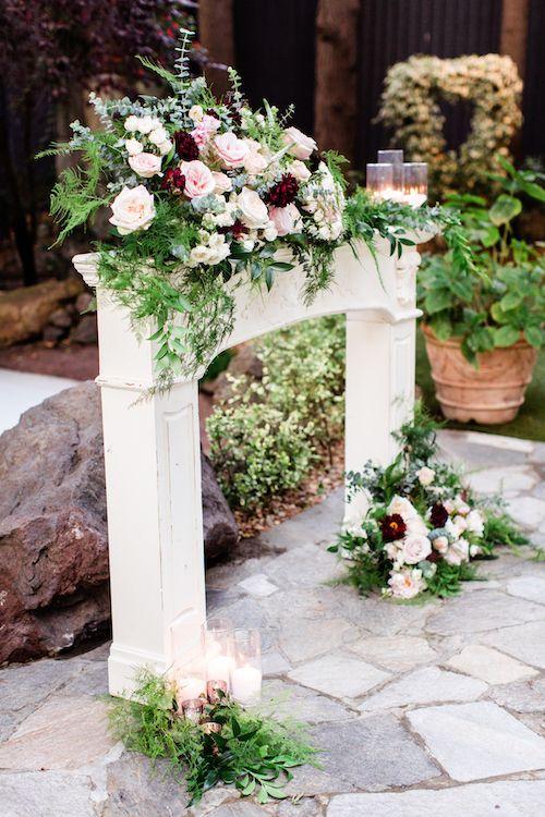 Provenance Rentals Gabriela Chippy Mantel Farmhouse Decor Ceremony Decorations Outdoor Wedding Ceremony Backdrop Outdoor Wedding Ceremony Decorations Outdoor