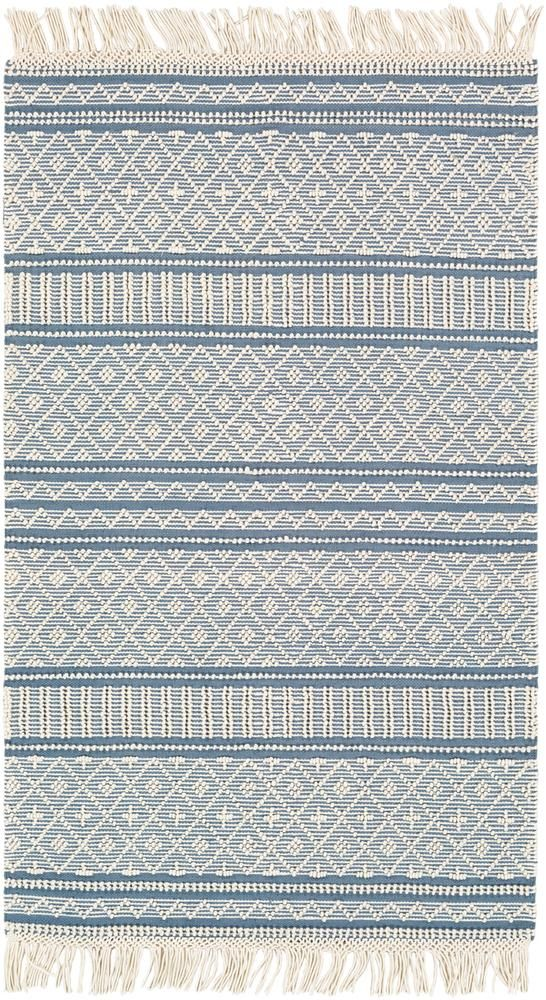 Farmhouse Tassels Fts 2301 Denim Rug In 2020 Rugs On Carpet Area Rugs Flat Weave Rug