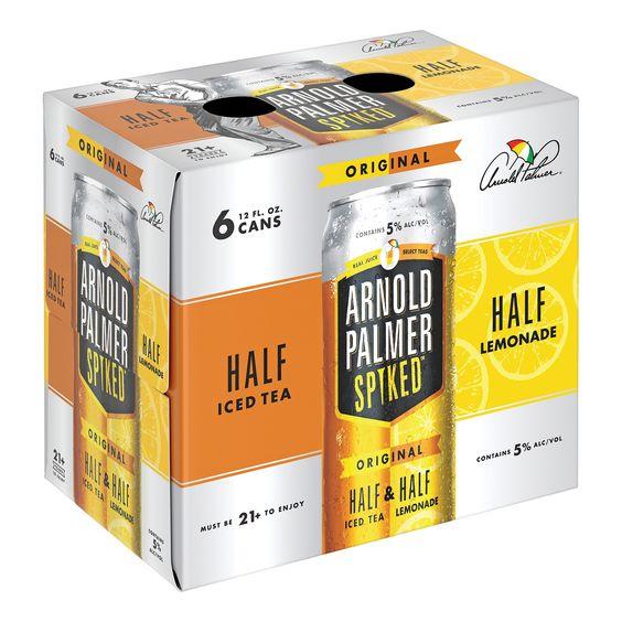 Arnold Palmer Spiked Half Half Ice Tea 6pk 12 Fl Oz Cans Iced Tea Arnold Palmer Drink Arnold Palmer