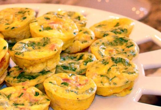 Mini Frittatas - Giada De Laurentiis from Food.com:   								These baby frittatas are wonderful for breakfast, brunch, or appetizers. They can be served warm but are delicious served at room temperature. From Giada D.