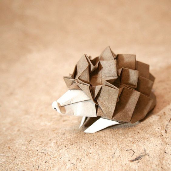 Cute Origami hedgehog: