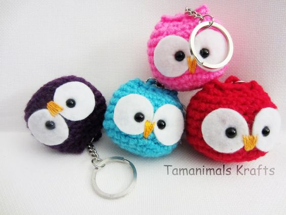 crochet owl ornamentkey chain tutorial