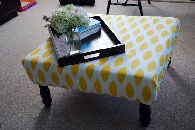 Tulip and Turnip: DIY: Upholstered Ottoman/Coffee Table