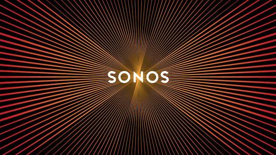 Sonos - an optical illusion creates the idea of soundwaves when you scroll over the logo