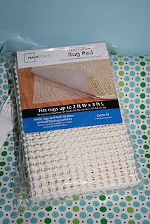 No-slip rug pad under changing pad to put on dresser/night stand, so it doesn't move around.