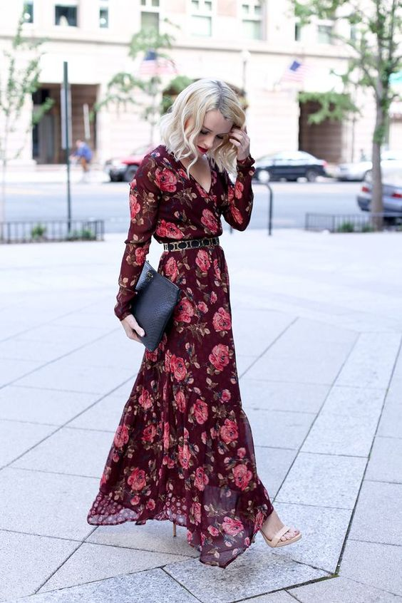 Poor Little It Girl - Fall Floral Maxi Dress - @poorlilitgirl: