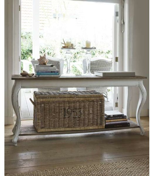 Love This Table And Basket Rustic White Furniture House Interior Home Decor
