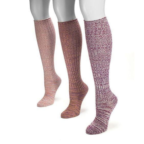 Simply Vera Vera Wang 2-pk. Marled Boot Knee-High Socks - Women