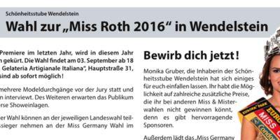Wahl Miss Roth 2016 in Wendelstein