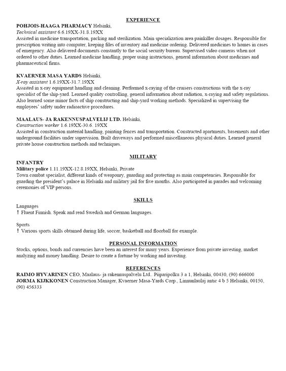 Examples Of Resumes For Jobs With No Experience - Http://Www