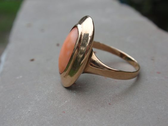 Antique Coral Ring 10k Ladies Victorian by LuceesTreasureChest