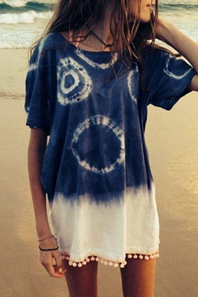 Short Sleeve Color Block Straight Dress BLUE: Casual Dresses | ZAFUL