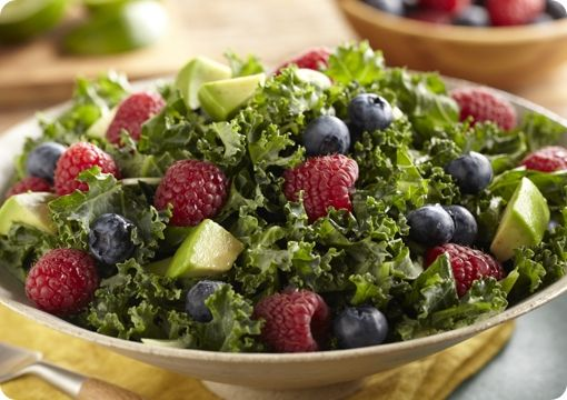 Driscoll's Raspberry and Blueberry Kale Salad. www.driscolls.com