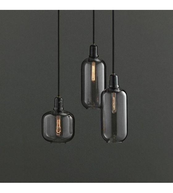 Amp Hanging Lamp Black Glass Marble O11 2x26cm Moderne Lampen Eettafel Verlichting Hangende Lampen