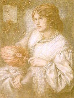 Mujer con un abanico, 1870 - Dante Gabriel Rossetti