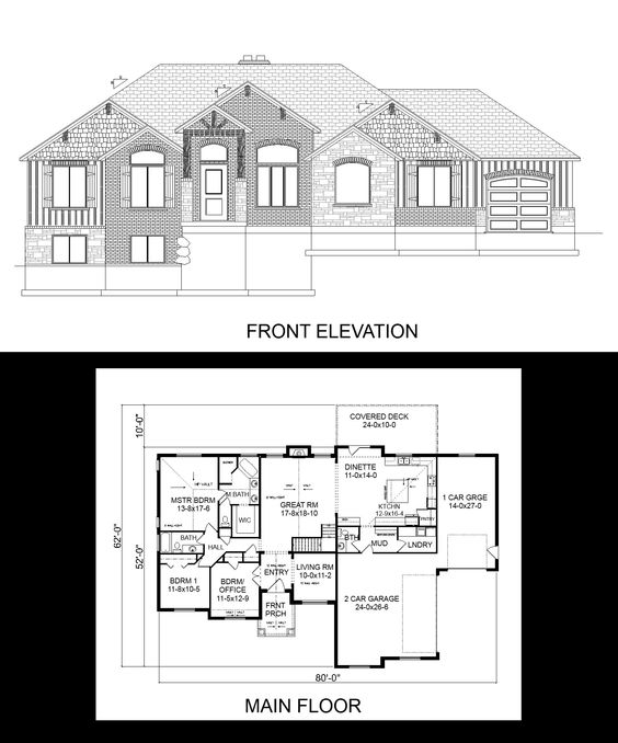 R 2158 pdf ceilings layout and chang 39 e 3 for Side load garage house plans