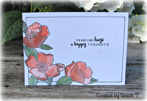 https://flic.kr/p/PUfJry   Sending Hugs and Happy Thoughts   Using the new Adore You stamp set from Altenew together with a sentiment from another Altenew set.   Added some clear Nuvo drops for raindrops on the roses.