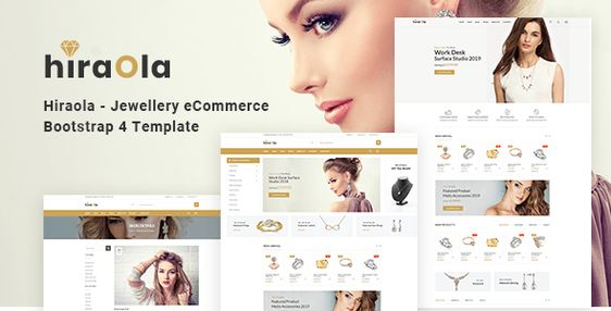 Hiraola Jewellery Ecommerce Bootstrap 4 Template Stylelib In 2020 Templates Free Download Website Template Design Website Design Company