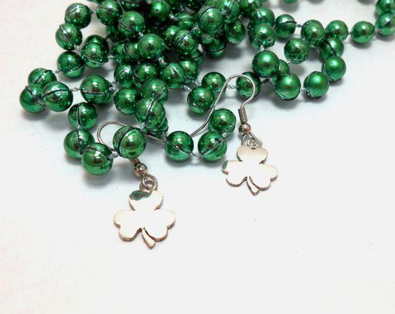 Sterling Silver Shamrock Celtic Clover Dangle by jewelrybymatt, $29.00