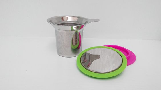 stainless steel tea strainer with lid