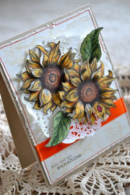 stunning sunflowers using @Flourishes,llc Jan Marie, by Meredith MacRitchie