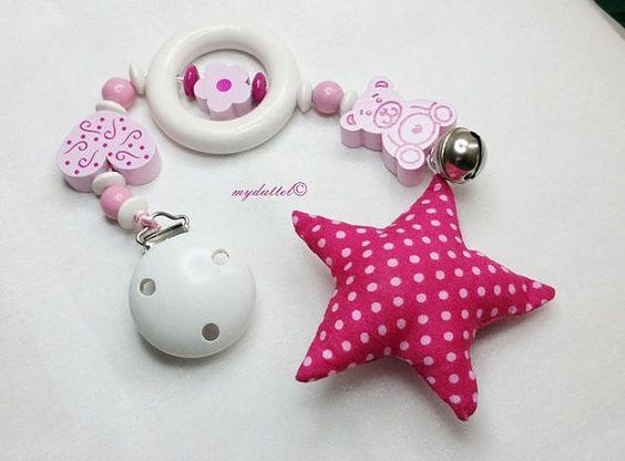 Baby-Safe-Kette Kinderwagenkette rosa SB104 von myduttel auf DaWanda.com