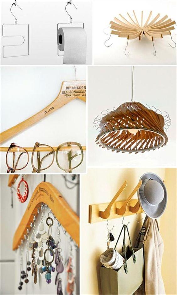 Buenas ideas para darles nueva vida a las perchas de madera